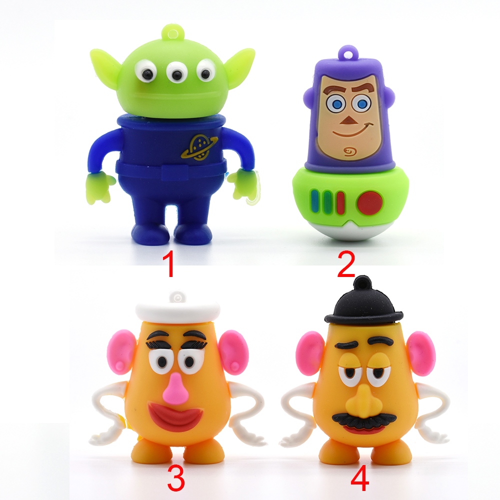 USB Flash Drives toy story Aliens Woody 4GB usb2.0 8G 16G 32GB 64GB pen drive memory stick u disk pendrive Mr. /Mrs.Potato Head(China (Mainland))
