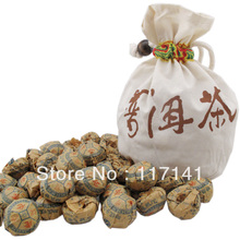 50 pcs/bag Ginseng flower Pu'er tea+Gift bag Free, Mini Yunnan Puer tea ,Chinese tea Free Shipping