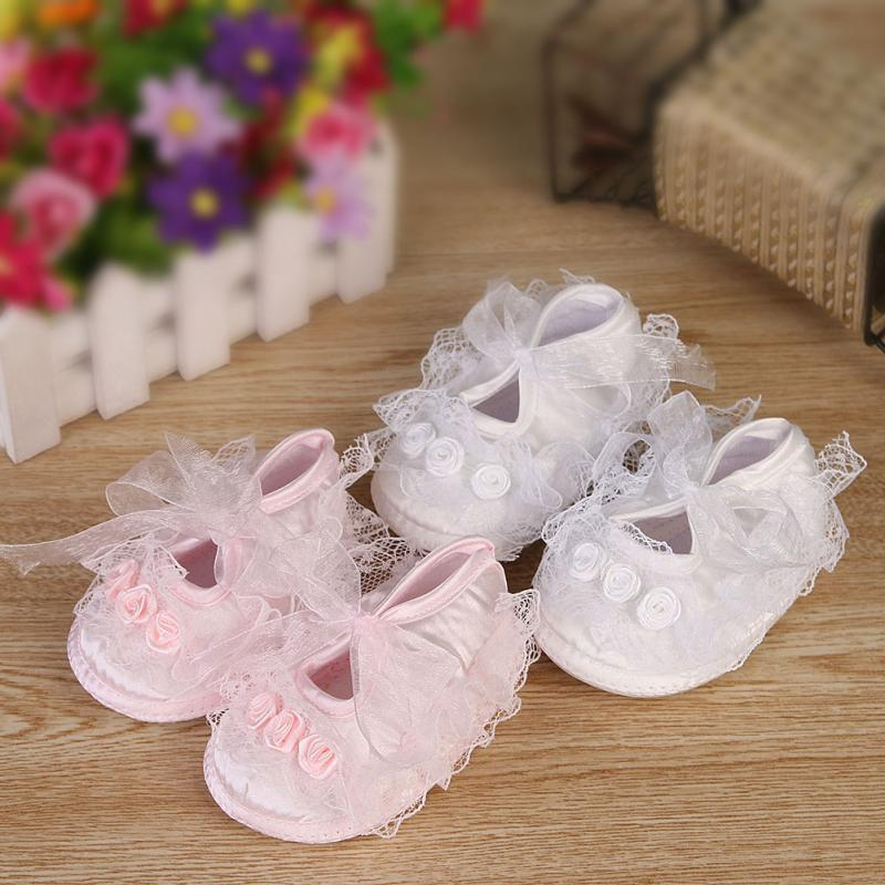Cute Baby Girl Bebek Ayakkabi Infant Toddler Lace Flower Soft Sole Crib Shoes Sapato Infantil Chaussons Bebe Fille 2 Colors(China (Mainland))
