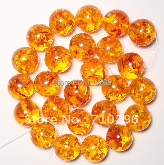 Charming Amber Jewelry Beads 16 mm Amber Resin Fashion Bracelets DIY.5strings/lot.Free shipping