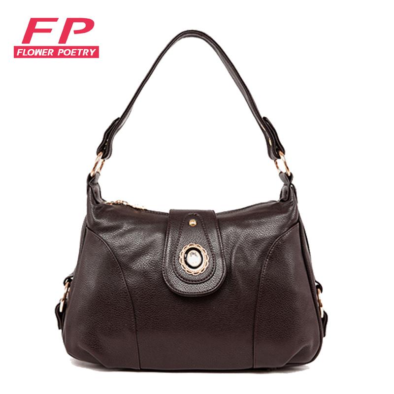 New 2015 Women Leather Handbags Fashion Brown Shoulder Bags Pu Hobos Crossbody Orange Bag Women Messenger Bags Ladies(China (Mainland))