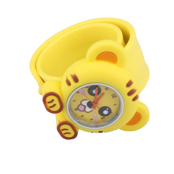 Lovely Yellow Digital Slap Watch Cat Slap Watches for Kids(China (Mainland))