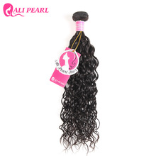 Buy Ali Pearl Hair Water Wave Peruvian Remy Hair 1 Piece Human Hair Bundle Free 8-30 inches Natural Black Color 1B for $14.20 in AliExpress store