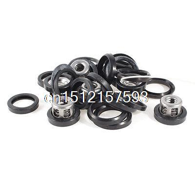 Multi Size Design Drain Plug Crush Washer Gaskets + Spring(China (Mainland))