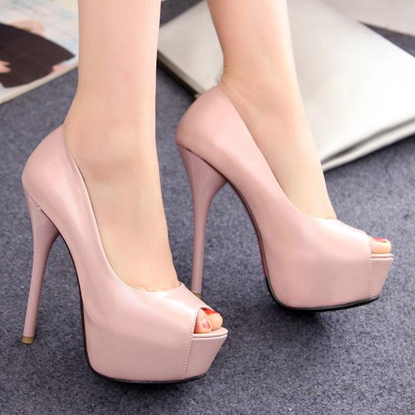 2015 summer new women sweety  and fresh fish Toe women sandals soild  high-heels platform women shoes thin heels sandals E052<br><br>Aliexpress