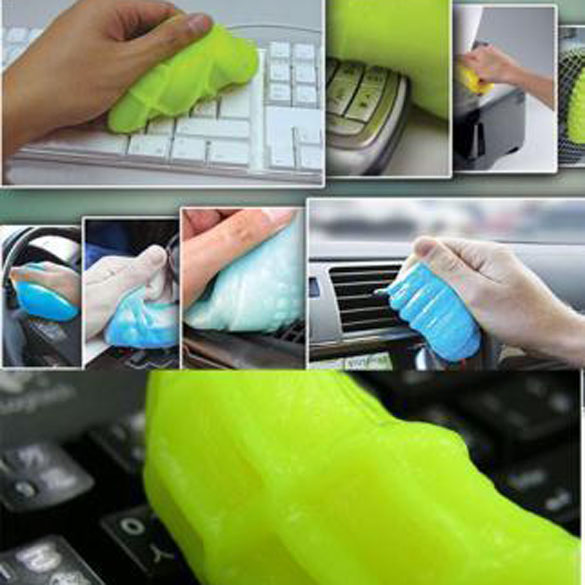 Keyboard Cleaning Tool Magic Gel Innovative Super Dust Cleaner High Tech Cleaning Compound Gel Color Randomly(China (Mainland))