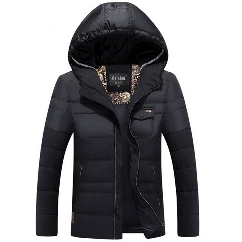 Hooded Zipper Coat Men's Down Jacket Plus Size 50% Off Men Down Jackets Winter Casual Hooded Jackets For Male(China (Mainland))