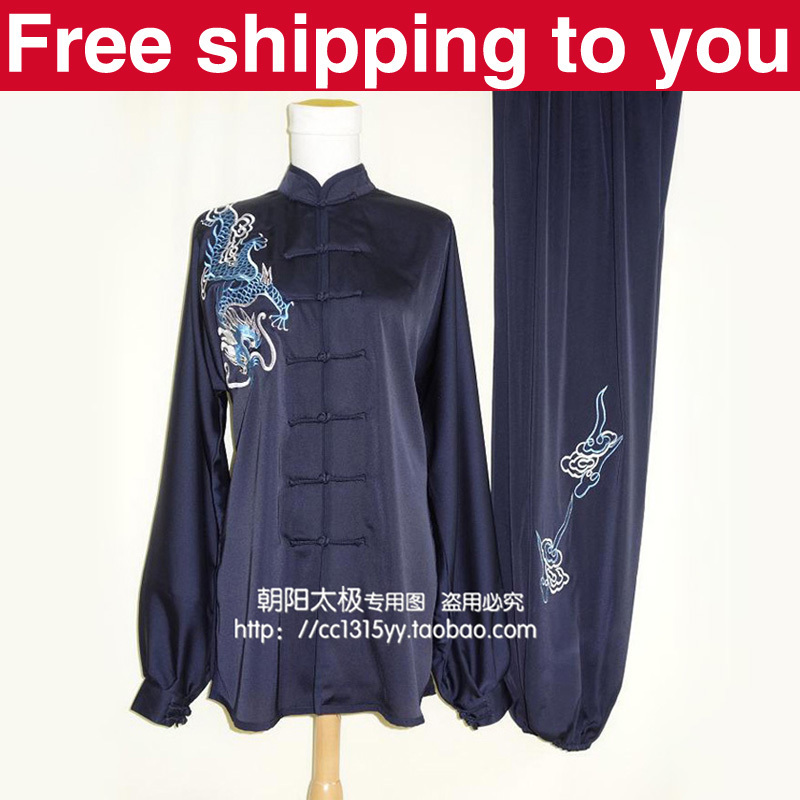 Customize Chinese Tai chi clothing/taiji sword performance clothes/exercise suit/dragon embroidery/boy/men/child/kids/women/girl