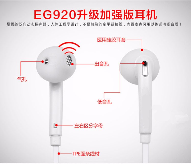 Hot Sale High quality In-Ear Earphone handsfree with Mic For Samsung S3 S4 S5 Note 2/3/4 Mobile Phone headset fone de ouvido