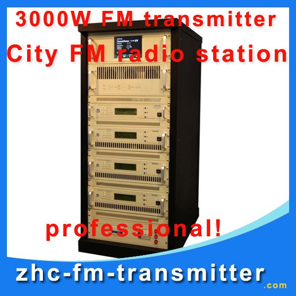 ZHC618F-3000W 3KW FM broadcast Transmitter used transmitter for sale fm radio transmitter for city fm radio station(China (Mainland))