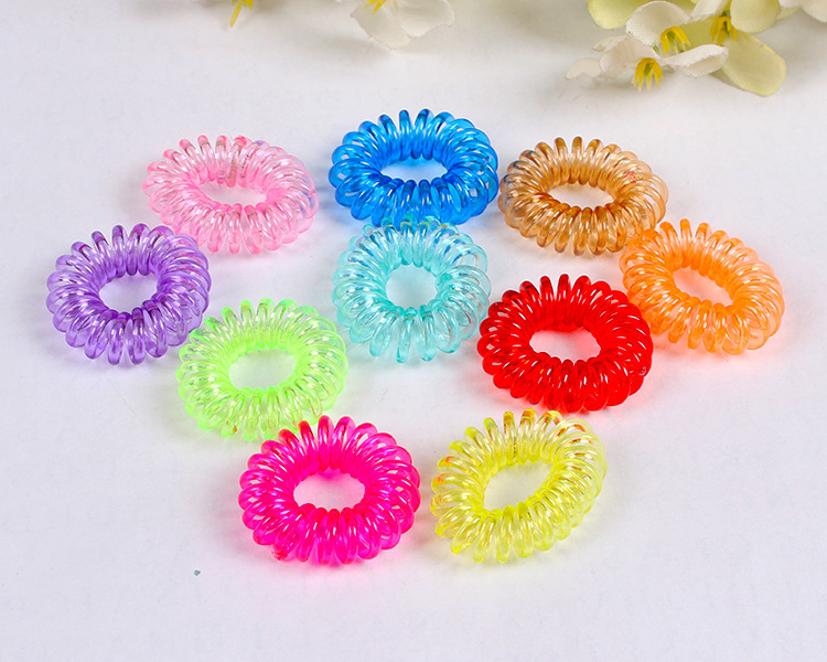 Hair Accessories Hair Ring Rope Headband Telephone Cord Rubber For Children/ Girl Woman(China (Mainland))