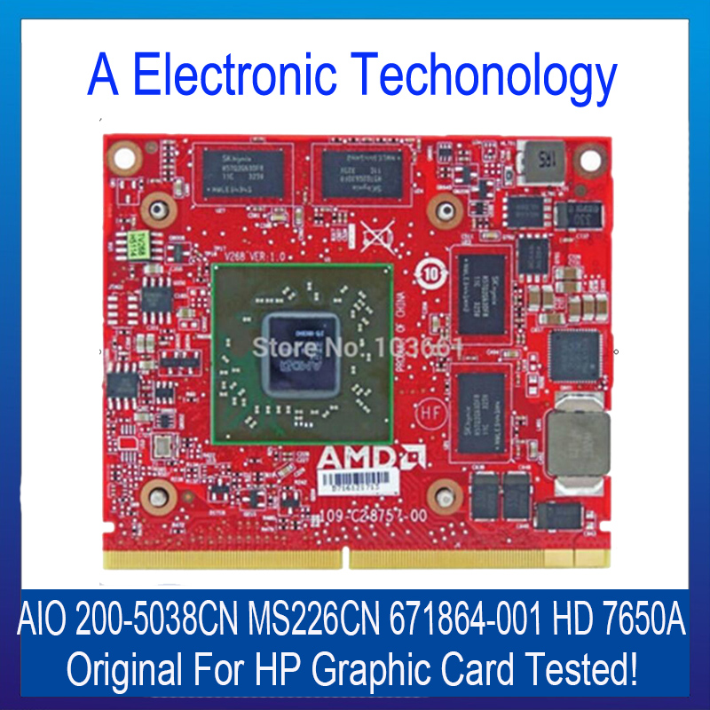 100% Genuine Brand Graphic Card For HP AIO 200-5038CN MS226CN 671864-001 HD 7650A Video Card Display Card<br><br>Aliexpress