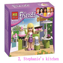 1Pcs/lot Figure Girl's Friends Emma/Mia Cat Play Pet House Building Blocks Minifigures Model Bricks Toys Compatible with Lego(China (Mainland))