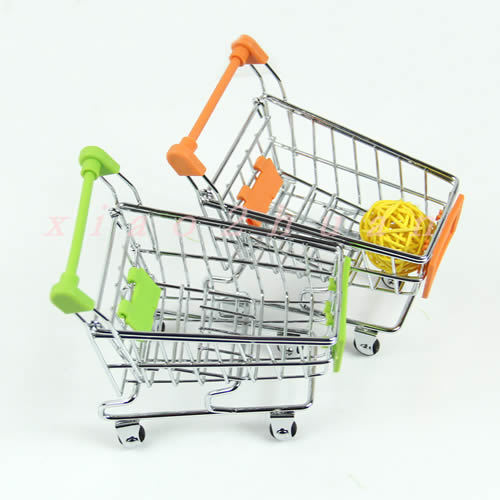 d75 Hot Selling New Mini Shopping Handcart Small Supermarket Practical Pushcart Trolley Phone Holder Kids Toys Free Shipping(China (Mainland))