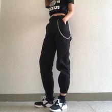 Pantaloni a vita alta camouflage jogging sciolti donne esercito harem camo pantaloni streetwear punk nero cargo pantaloni di capris delle donne pantaloni(China)