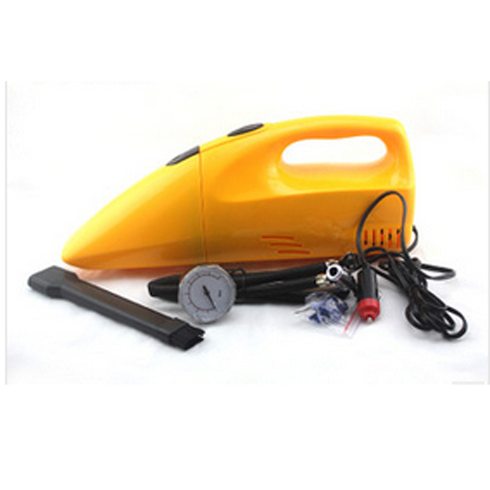 Best Sale 90W Car Multifunctional Auto Vacuum Cleaner Inflatable Pump Charge with Tire Gauge(China (Mainland))
