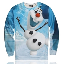 Hot  Sale 3D fantasia  olaf  costume women/men sweatshirt cute cartoon printed sweatshirt  vogue outdoors pullover hoody tops(China (Mainland))
