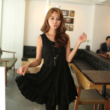 2015 Free shipping hot selling Modal cotton womens summer wide dresses (China (Mainland))