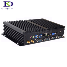 Kingdel Special Offer Industrial Fanless Mini PC Computer with Intel Celeron 1037U i5 3317U CPU Dual LAN HDMI 4*RS232(China (Mainland))