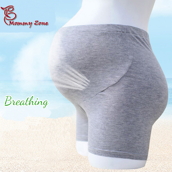Mommy Zone Maternity Summer Breathable Cotton Shorts Pregnant Woman Safety Pants Plus Size Thin Modal Belly Short Pants(China (Mainland))
