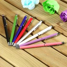 1pcs 2 in1 Capacitive Touch Screen Stylus Pen with Ball Point Pen for iPad 2 3 for iPhone 4 4S Drop Shipping Wholesale(China (Mainland))