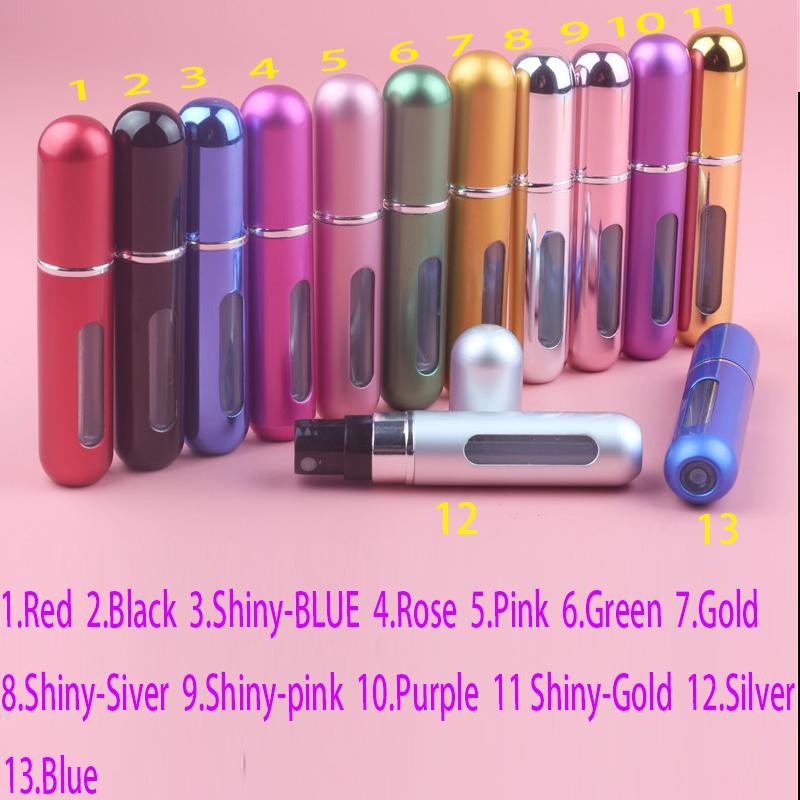 1PC New 5ml Amazing Travel Perfume Atomizer Refillable Spray Empty Perfume Bottle Easy Used Aluminum Glass Mini Scent Bottle(China (Mainland))