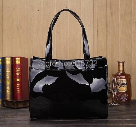 New Famous brand M bag PU leather shoulder bag Hamilton lock Tote purse 2015 fashion