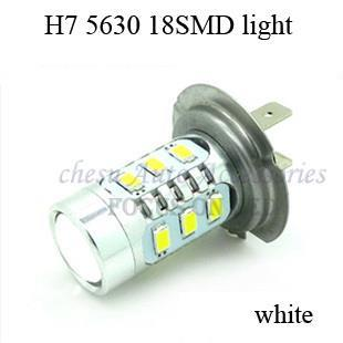 Car styling sale ccc electronics for cars 2014 new style 2 pieces h7 18smd light bulbs 8w 5630 led color fog in free shipment(China (Mainland))