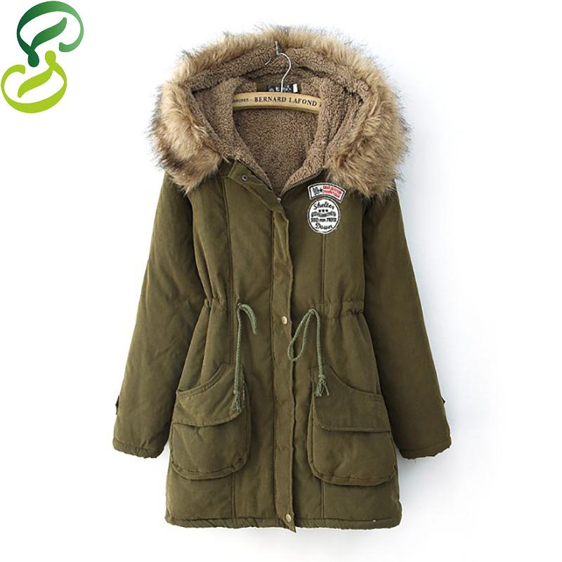2015 Thickening Warm Winter Fur Collar Jackets Women New Women's Long Parka Plus Size Hoodies Parkas