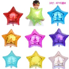 Buy 5pcs/lot 45*45cm five-pointed star shaped foil Balloons Helium Metallic pure color ballons Wedding birthday party decor for $1.80 in AliExpress store