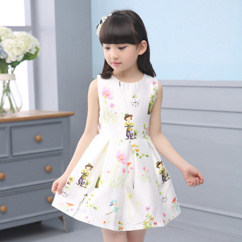 flower girl dress for party and wedding summer girls dresses 2016 toddler kids clothes evening 5~14 year birthday new fashion(China (Mainland))