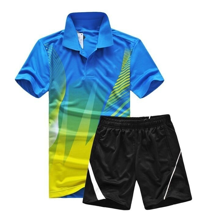 Polyester table tennis Jersey clothes, Moisture absorption Quick-drying Sport tennis T-shirt shorts,badminton Shirt suit M-4XL(China (Mainland))