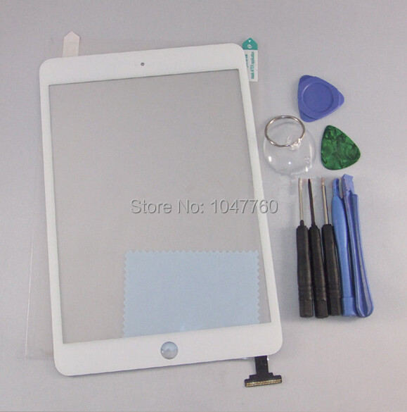 For iPad mini 1 ipad Touch Screen Digitizer Glass Lens Replacement For Ipad mini 2 white free tools(China (Mainland))