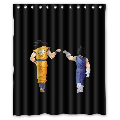 popular dragon ball z Shower Curtain 60x72 inch wonderful top quality(China (Mainland))
