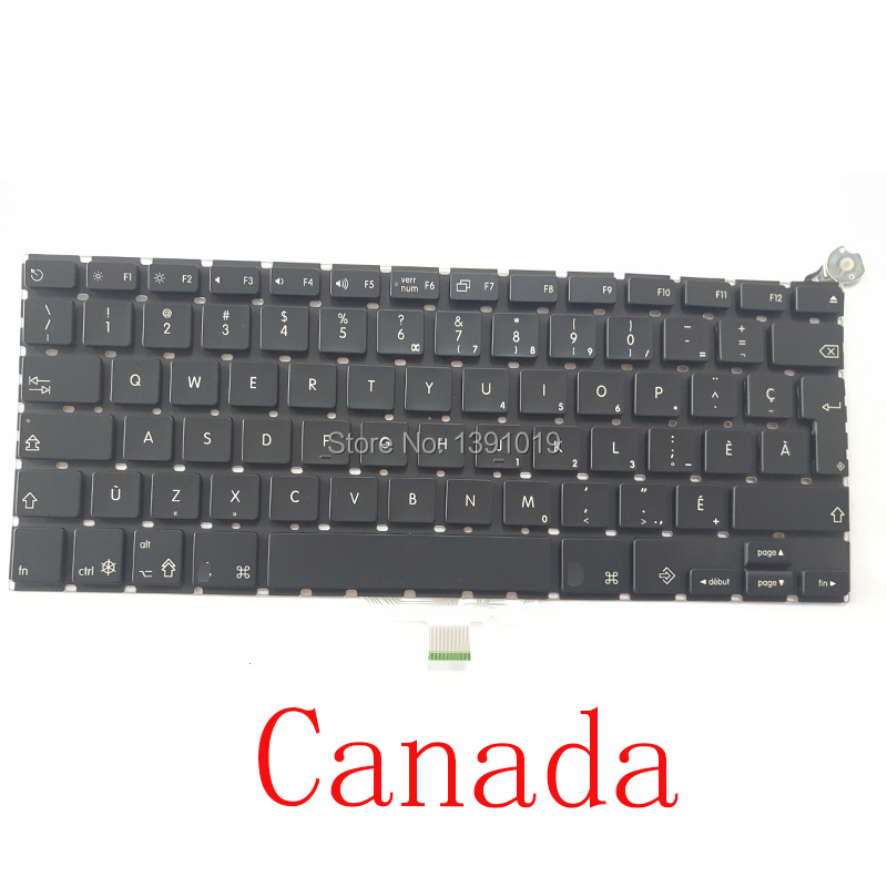 Original Laptop Repair Parts A1181 Canada Keyboards White Black For Apple Macbook Air Working Well Replacement(China (Mainland))