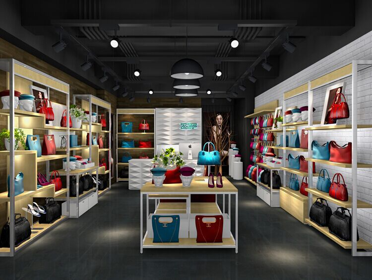 Shoes store display furniture shop mdf showcase cloth for Showcase shelf designs