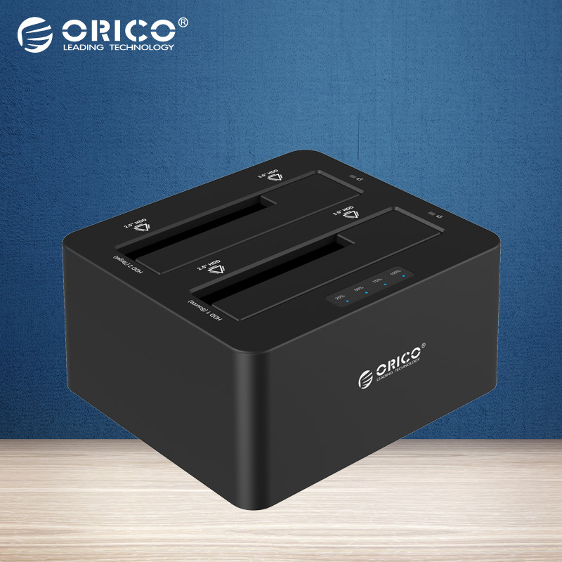 ORICO USB 3.0 to SATA Dual Bay External HDD Docking Station for 2.5 & 3.5 HDD/SSD HDD Duplicator/Cloner Function [6TB*2 Support](China (Mainland))