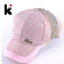 4 colors Summer Baseball Caps for Women Men Outdoor Snapback Caps Leisure Sport Hat Flax cap Casual Gorras Planas(China (Mainland))