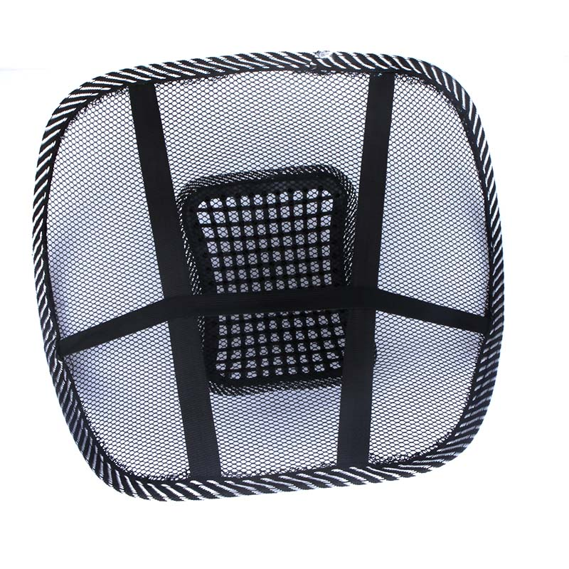 Car Office Seat Chair Massage Back Lumbar Support Mesh Ventilate Cushion Pad Black Car Accessories(China (Mainland))