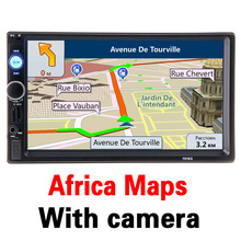 2 din 7 inch HD Car Radio GPS Navigation Player Camera Autoradio Bluetooth AUX MP3 MP5 Stereo FM Audio USB Auto Electronic 7010G(China)