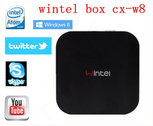Wintel CX-W8 Mini PC Windows 8.1 & Android4.4 Dual OS TV Box Quad Core W8 2GB/32GB Intel Atom Z3735F Computer - Panda Technology store