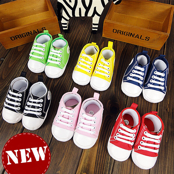 Baby Shoes Girls Boys Classical Canvas Toddler Soft Sole Infant Newborn Infantil Sapatos First Walker Sneakers 2015 New Real(China (Mainland))
