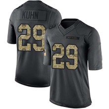 Men's #29 John Kuhn Limited Black 2016 Salute to Service Jersey 100% Stitched(China (Mainland))