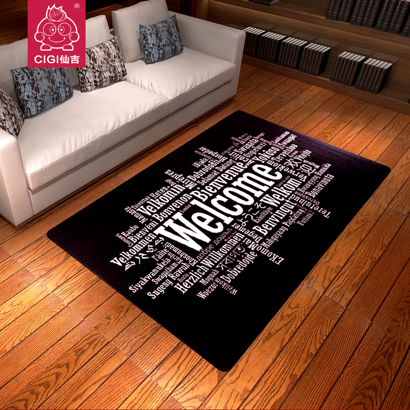 Fashion welcome personality trend of the black carpet big sofa coffee table mat rug shop mat 100*160cm(China (Mainland))