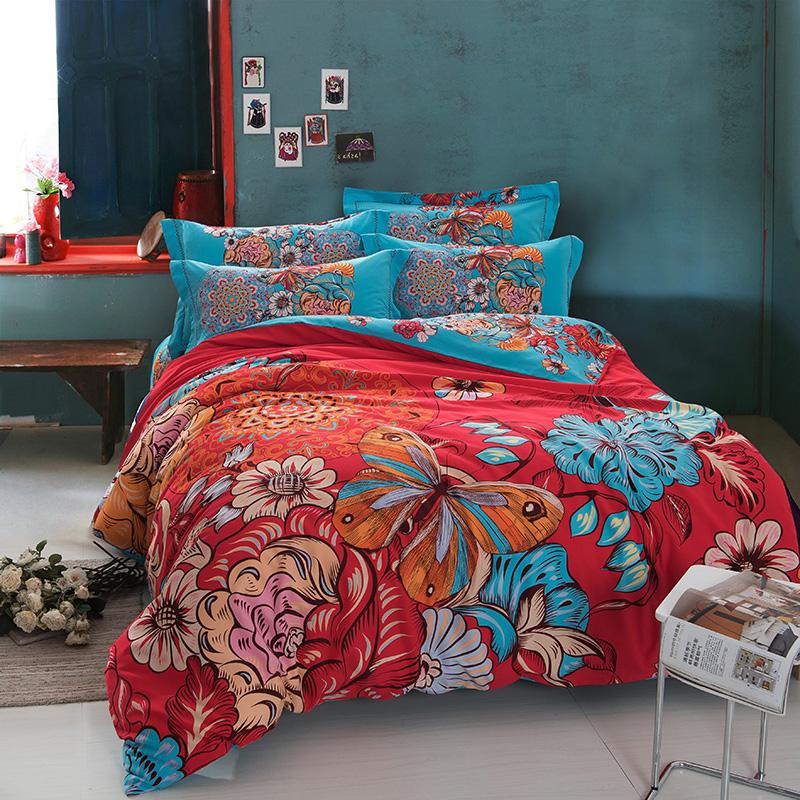 bohemia boho designer brand bedding comforter bedroom bed sheets sets king for queen size duvet. Black Bedroom Furniture Sets. Home Design Ideas