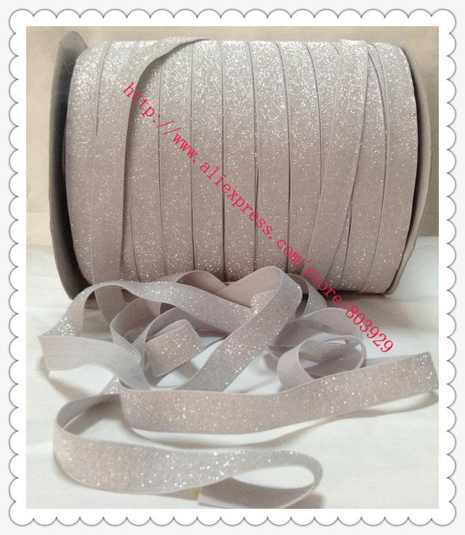 "3/8"" Frosted Glitter Ribbon Sparkle Ribbon Light Silver Metallic Ribbon(China (Mainland))"