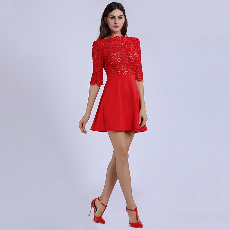 red lace dress 7