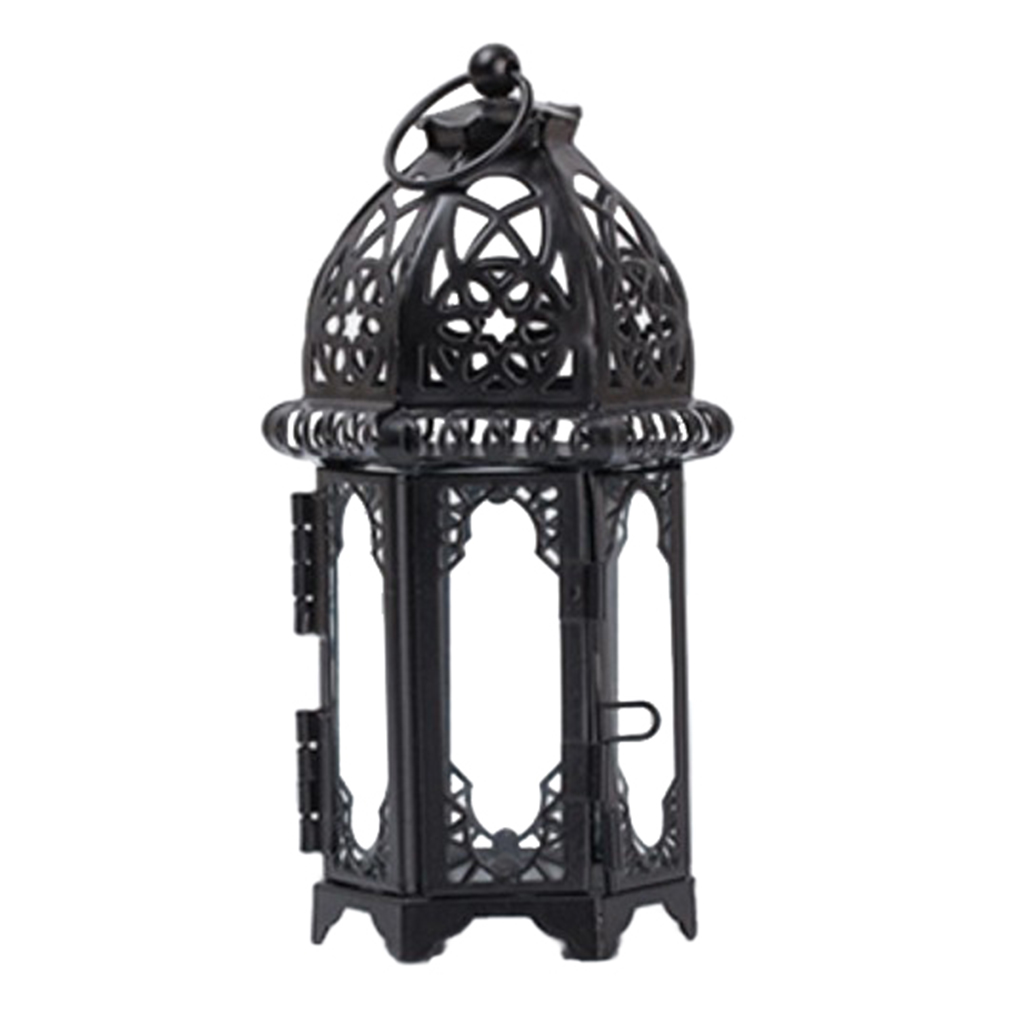 European Moroccan Style Candle Lantern Tealight Candle Holder Candlestick for Wedding Party Decor Home Bedroom Decoration