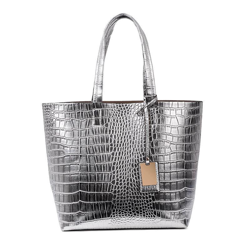 Bolsas Femininas 2016 Fashionable Crocodile Pattern Women Casual Handbags Bolsas De Marca Hight Capacity Small bag inside(China (Mainland))