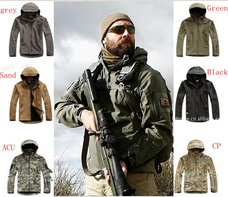 High quality Lurker Shark skin Soft Shell TAD V 4.0 Outdoor Military Tactical Jacket Waterproof Windproof Sports Army Clothing()